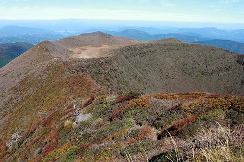 大船山山頂付近から米窪方面2013.10.17