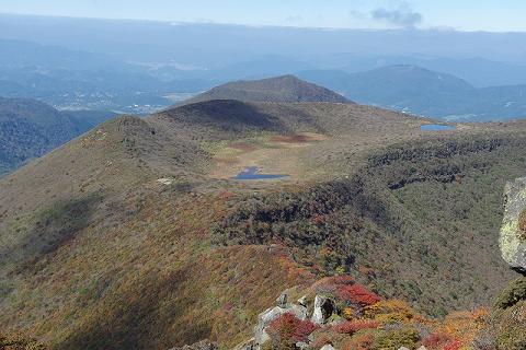 大船山山頂から米窪2014.10.15