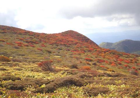 扇ヶ鼻山頂部の紅葉2015.10.11