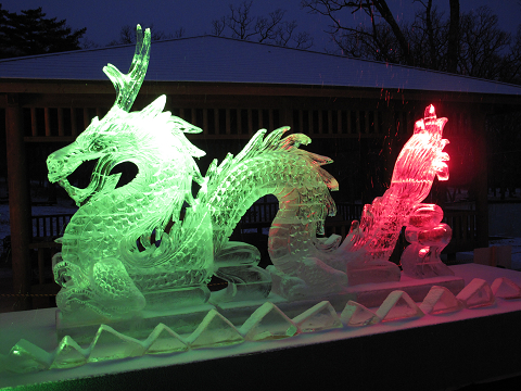 2012氷祭り 龍